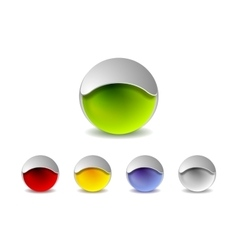 Abstract 3d balls logo design vector image vector image