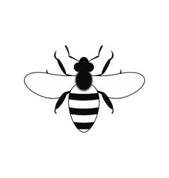 Bee black simple icon vector image