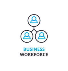 business workforce concept outline icon linear vector image