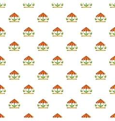 Childrens carousel pattern cartoon style vector