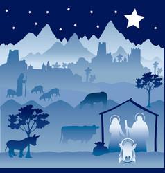 christmas nativity version 1 vector image vector image