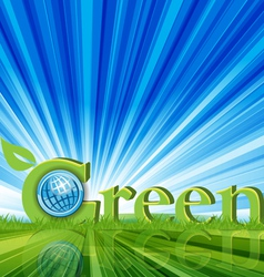 green word font vector image vector image