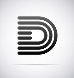Logo for letter d vector