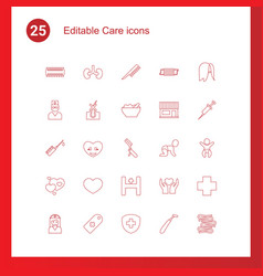 25 care icons vector
