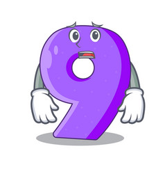 Afraid number nine balloon font shaped charcter vector