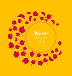 autumn season sale banner template design layout vector image