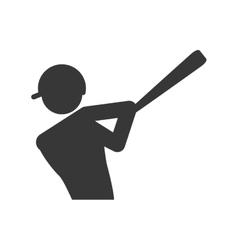 Baseball player icon Sport design graphic vector
