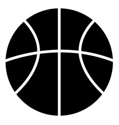 basketball ball black silhouette icon vector image