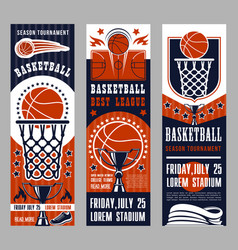 Basketball sport team game banners vector