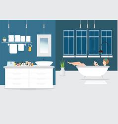 Bathroom interior design vector