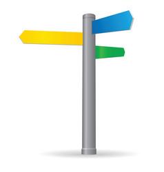 Blank signpost vector