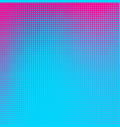 Blue and pink dotted halftone background vector