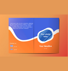 Blue orange a4 brochure template vector
