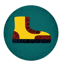 Boot fat Icon with textured elements vector image