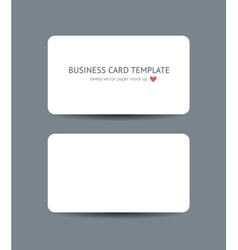 Business cards blank mockup template vector image