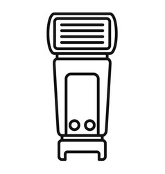 camera flashlight icon outline style vector image