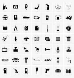 car accessories and spare parts vector image