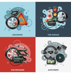 Car Service Concept Icons Set vector image