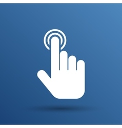 click hand icon pointer finger pointer vector image