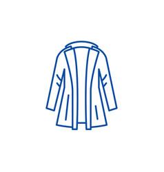 Coat line icon concept coat flat symbol vector