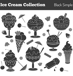 Collection of hand drawn ice cream treats vector image