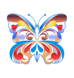 colorful butterfly color icon vector image vector image