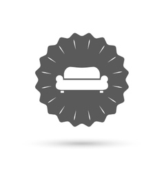 Comfortable sofa icon Modern couch symbol vector image
