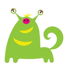 Cute little monster or alien is isolated vector