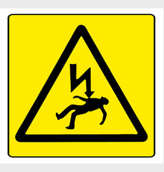 Danger electricity vector