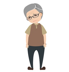 Depressed old man vector image