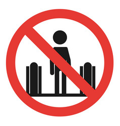 do not use the escalator icon simple style vector image