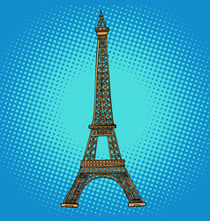 Eiffel tower paris france vector