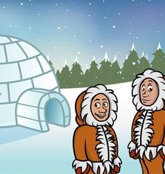Eskimo igloos vector image