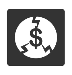 Financial Crash Icon from Commerce Buttons vector