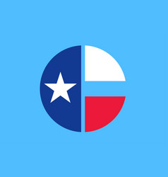 flag collin county in texas in united states vector image