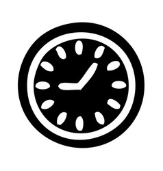 flat symbol wall clock vector image