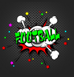 football pop art retro style vector image