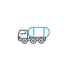 freight transportation linear icon concept vector image