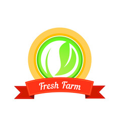 fresh farm stamp vector image