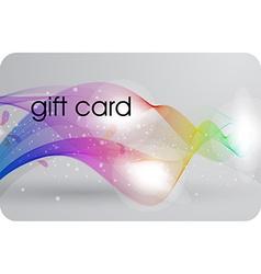 Futuristic Gift Card Design vector image