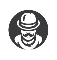 gentleman silhouette sign vector image