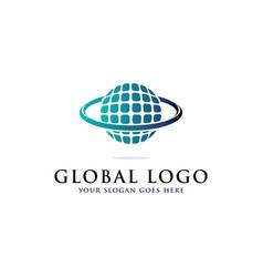 Global logo inspirations internet logo template vector