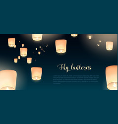 Gorgeous horizontal banner with glowing kongming vector