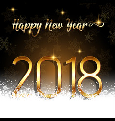 Happy new year background with gold text nestled vector