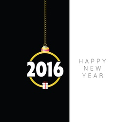 happy new year with gift box vector image