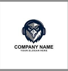 Hawk music logo vector