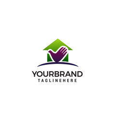 home care logo design concept template vector image