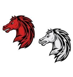 Horse mascots vector