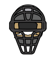isolated baseball icon vector image
