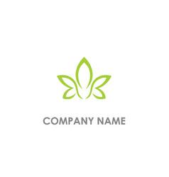 leaf flower beauty logo vector image